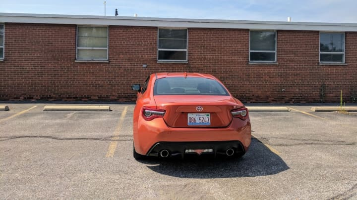 A look at the back of the Toyota 86
