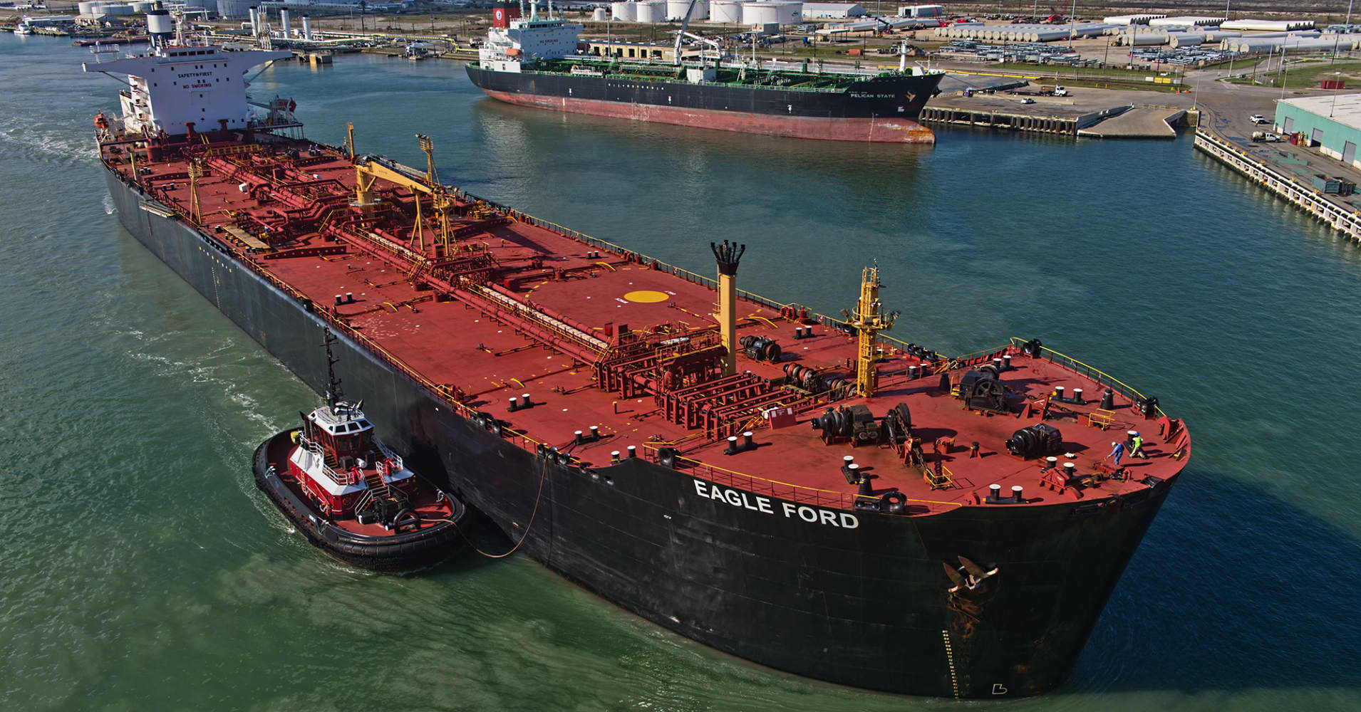 US crude oil exports hit a record last week at 3.6 million barrels a day