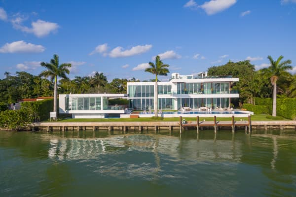 The Miami mansion in which Rihanna filmed a music video.