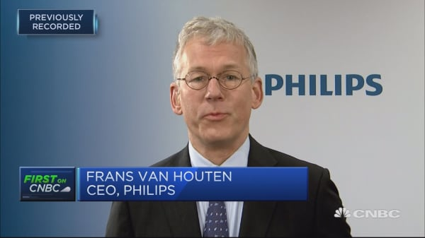 Solidly on course to meet full year targets: Philips CEO