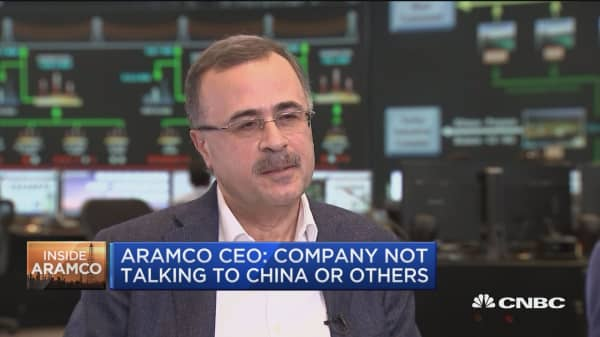 Saudi Aramco CEO: Lisiting venue will be shared 'in due course'