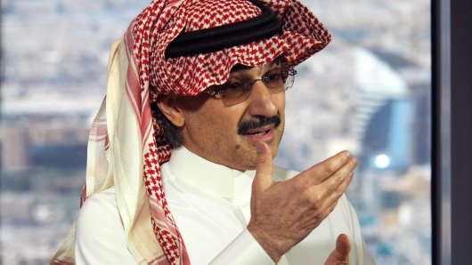 Alwaleed bin Talal, two other billionaires tycoons among Saudi arrests