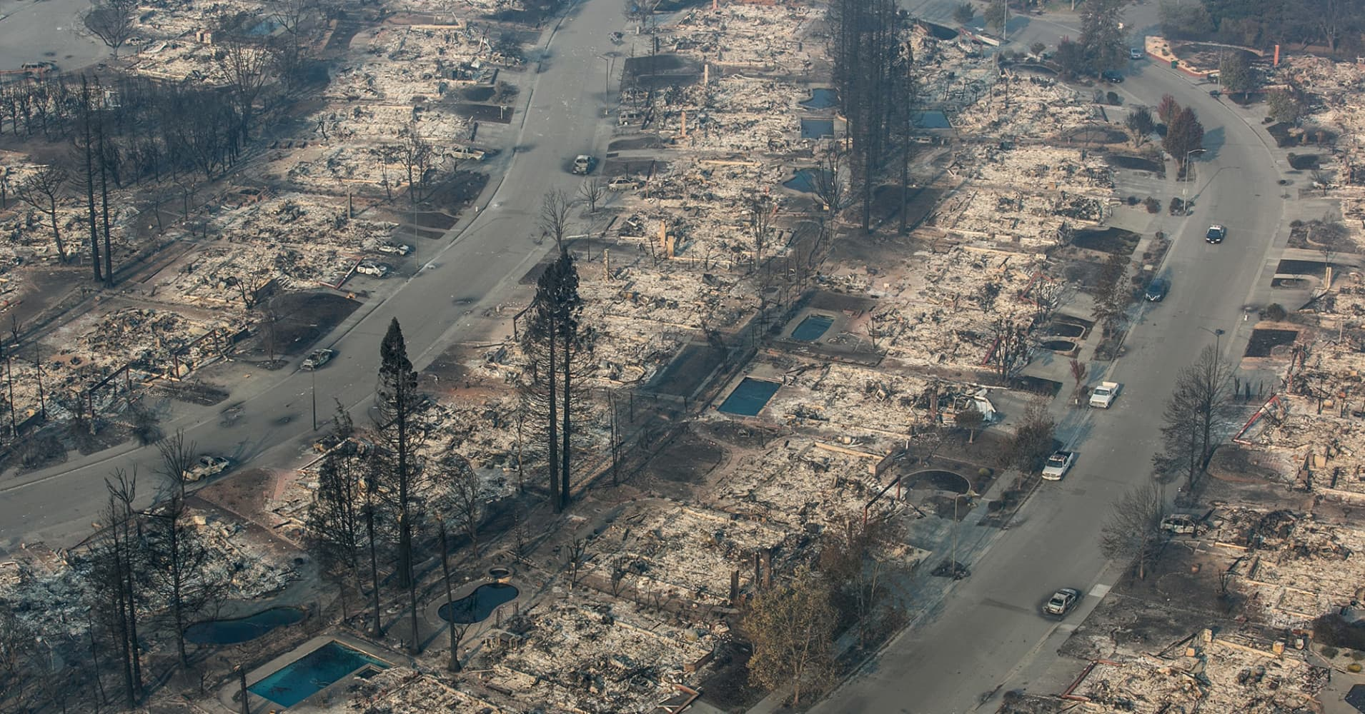 California's wine country wildfires near containment even as structure loss grows