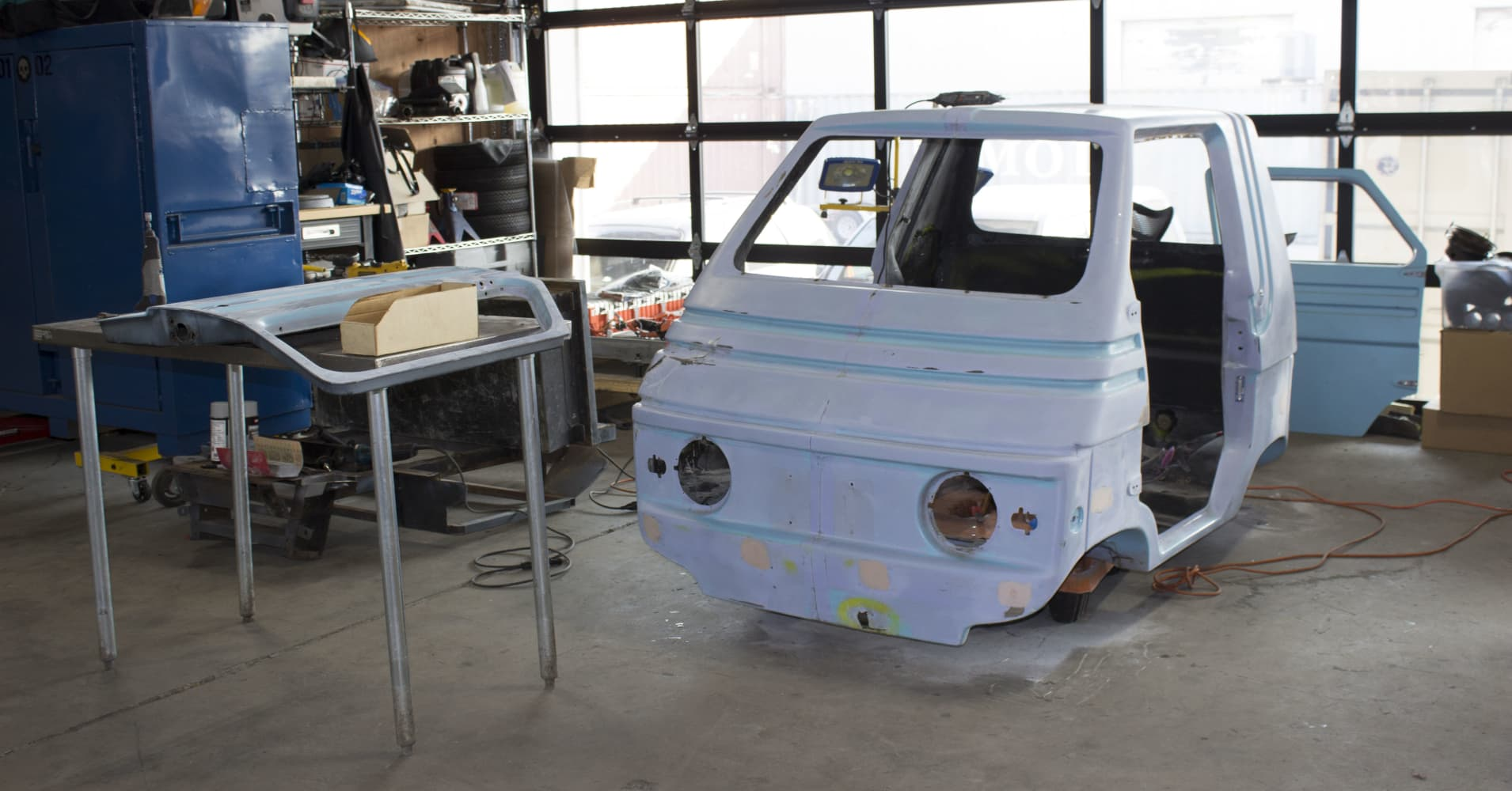 Employees at this Silicon Valley start-up are rebuilding a rare 1970s 'microcar' as a bonding exercise