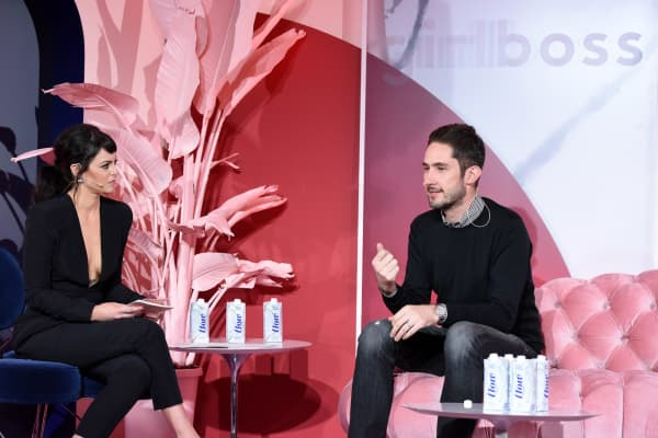 Girlboss Founder and CEO Sophia Amoruso and Instagram Co-Founder and CEO Kevin Systrom speak onstage at the inaugural Girlboss Rally on March 4, 2017 in Los Angeles, California.