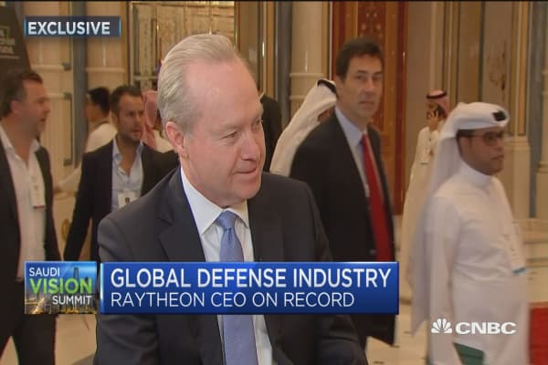 Raytheon CEO: The world is a more dangerous place today