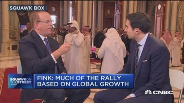 Market rally based on global growth, not policy: BlackRock CEO