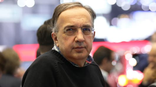 Sergio Marchionne, chief executive officer of Fiat Chrysler Automobiles NV.