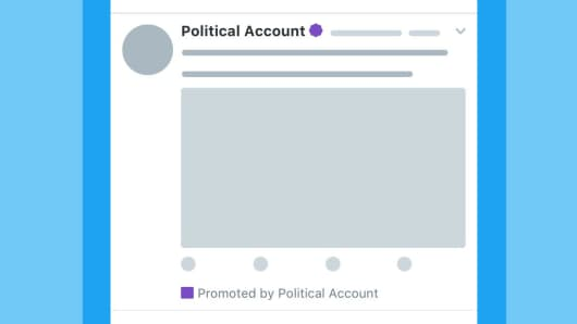 Twitter will label political electioneering ads meant to promote a candidate or a candidate's party for elected office.