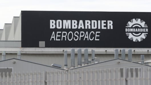 A general view of the Bombardier Aerospace plant in Belfast