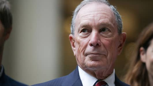 Chief Executive Officer of media company Bloomberg Michael Bloomberg is seen at the launch of Bloombergs new European Headquarters in the City of London on October 24, 2017.