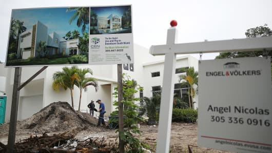 A new home is constructed on July 26, 2017 in Miami, Florida.