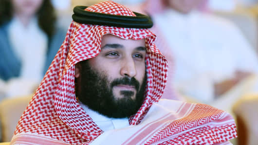 Saudi Crown Prince Mohammed bin Salman attends the Future Investment Initiative (FII) conference in Riyadh, on October 24, 2017.