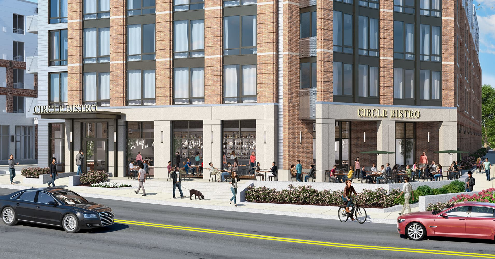 Rendering of exterior of Waterstone at the Circle, an urban independent living community scheduled to open in Boston in January.