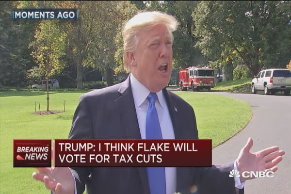 Trump on Sen. Flake: He did the right thing in leaving