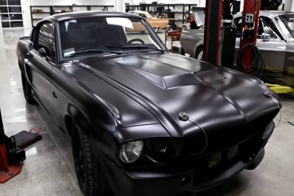 "A custom-built matte black ""Eleanor"""