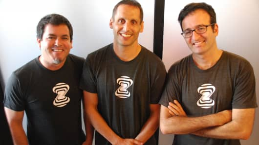 Zebra Medical Vision's founding team including Eyal Gura (right).