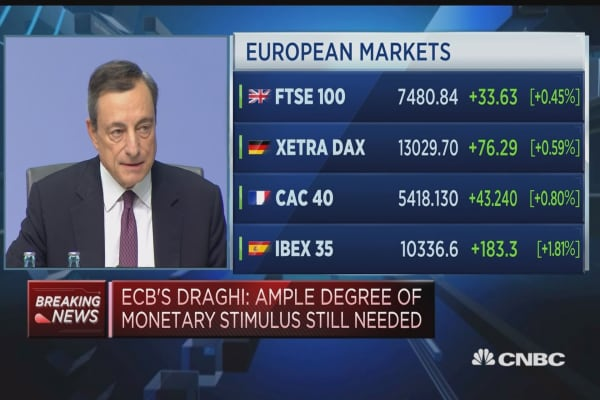 Decisions taken to preserve favorable conditions: ECB's Draghi
