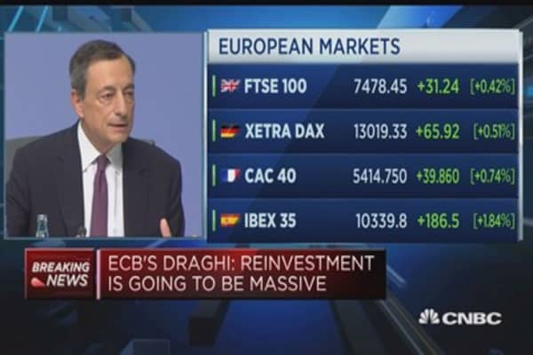 ECB 'well placed' to meet inflation objective, Draghi says
