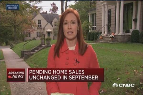 Pending home sales unchanged in September