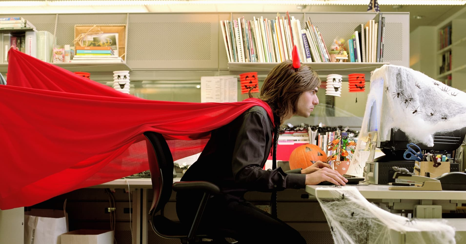 Why wearing a Halloween costume to work may make you happier