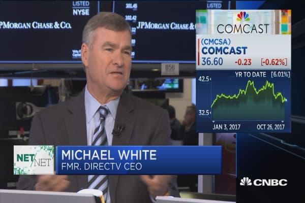 Michael White, former CEO of DirecTV, talks with Carl Quintanilla