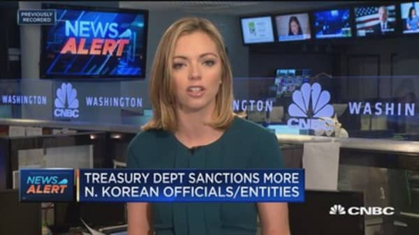 Treasury Department sanctions more North Korean officials and entitites