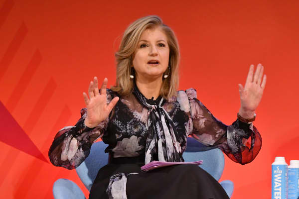 "Arianna Huffington speaks onstage during the ""THRIVE with Arianna Huffington"" panel at The Town Hall during 2016 Advertising Week New York on September 28, 2016 in New York City."