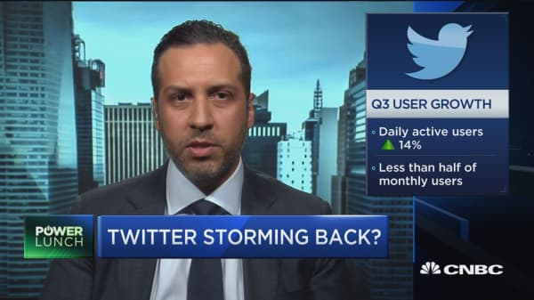 Twitter still has a back drop of sluggish user growth: James Cakmak