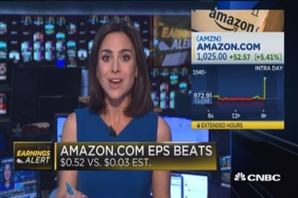Amazon beats the Street