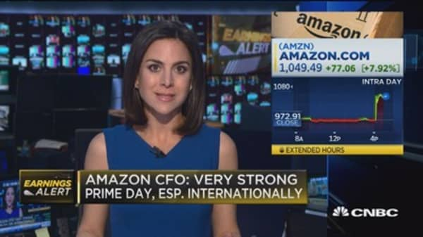 Amazon CFO: Very strong 'Prime Day' especially internationally