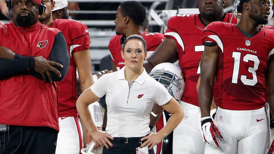 Here are leadership strategies from the NFL's first female coach Jen Welter