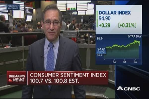 Consumer sentiment hits 100.7 in October