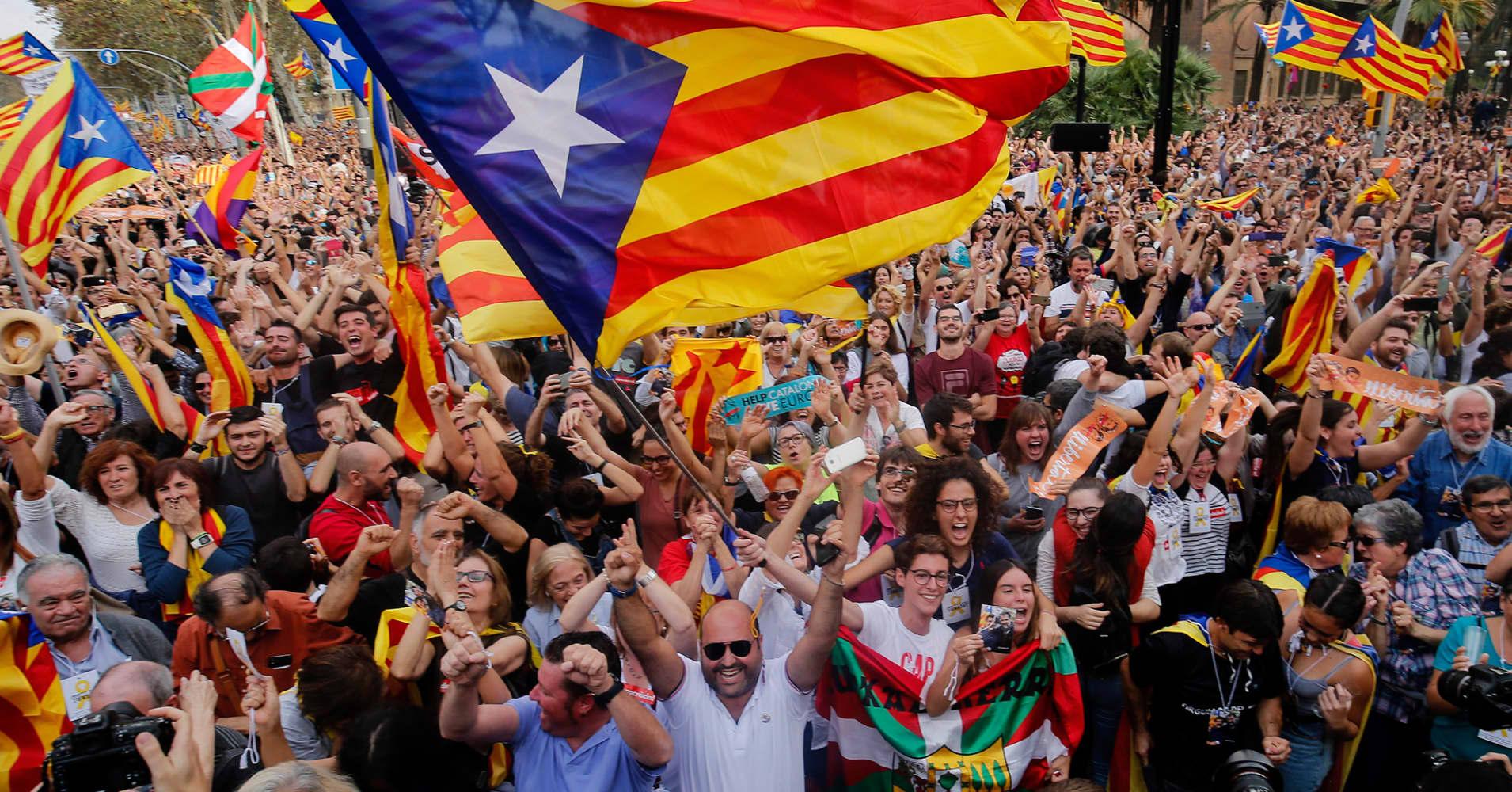 catalonia celebrates vote to declare independence