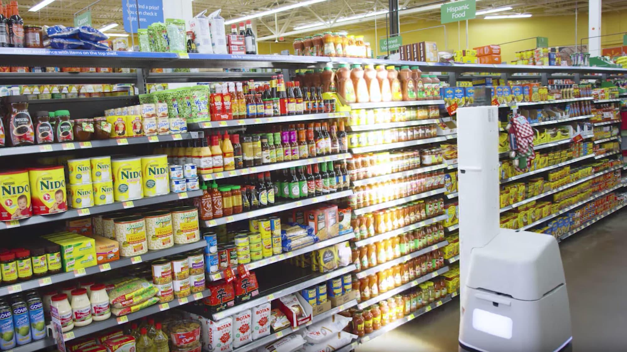 Walmart is using shelf scanning robots to audit its stores jpg 2000x1124  Walmart store shelves 0afade08f
