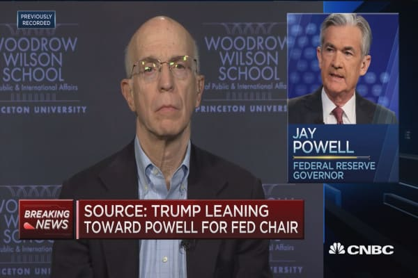 Former Fed vice chair Alan Blinder weighs in on Fed chair frontrunners