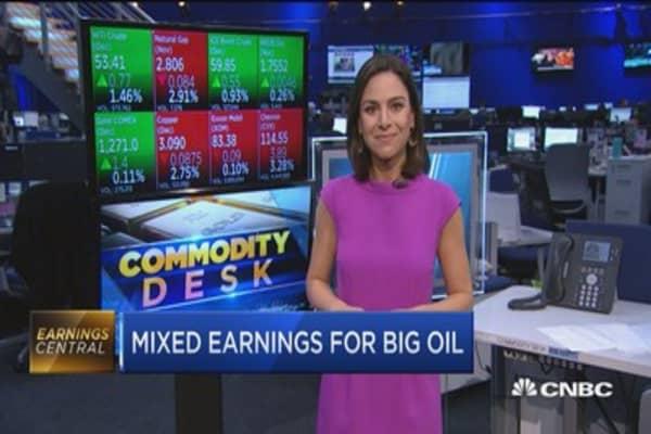 Oil majors Exxon and Chevron report mixed earnings