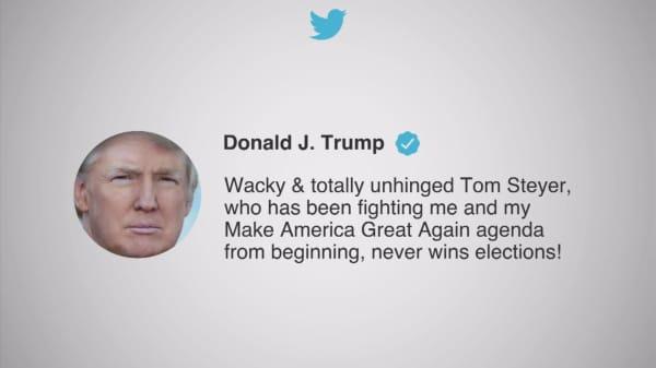 Trump responds to California billionaire urging impeachment