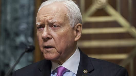 Senator Orrin Hatch, a Republican from Utah and chairman of the Senate Finance Committee.