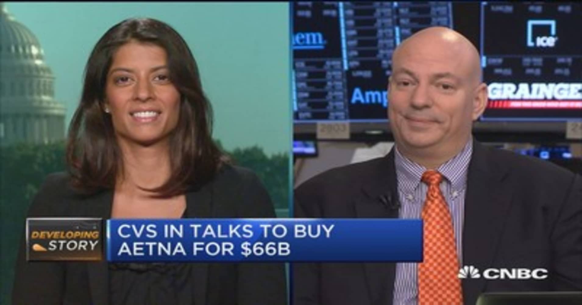 cvs might become one stop shop with potential aetna deal analyst
