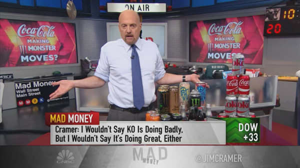 Cramer argues that growth-challenged Coca-Cola should buy Monster Beverage