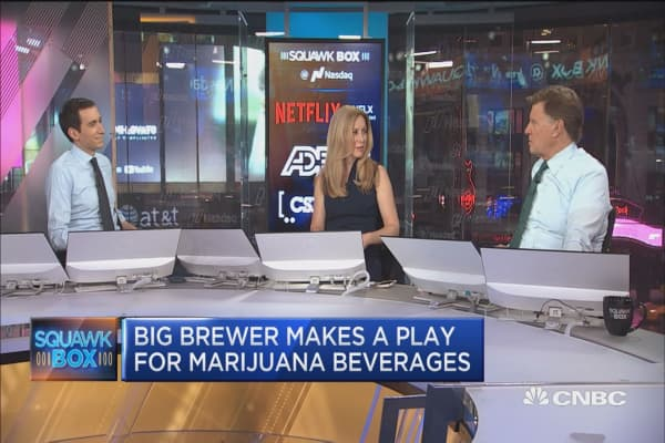 Executive Edge: Big brewer make a play for marijuana beverages