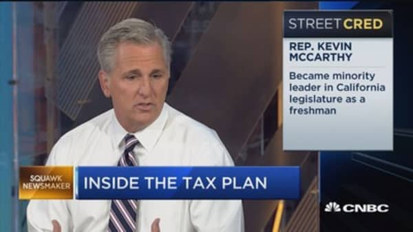 Rep. Kevin McCarthy: We've been pretty open on tax reform