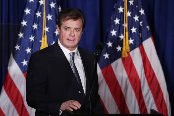 Paul Manafort, former advisor to Republican presidential candidate Donald Trump's campaign.