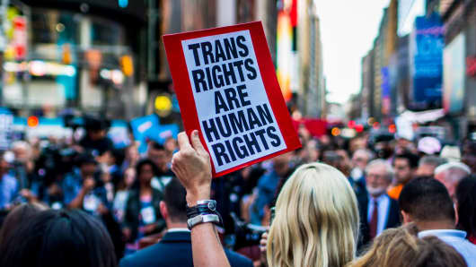 Image result for 56 Companies Protest Against Trump's Transgender Policies