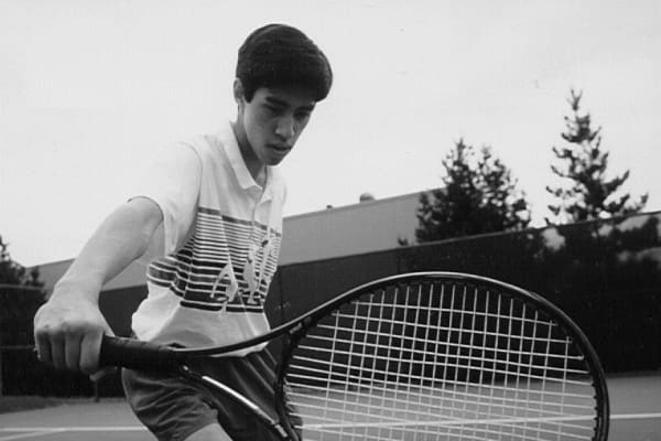 Ben Kaplan playing tennis