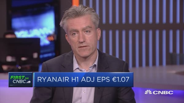 Ryanair has 'totally addressed' pilot roster issue, CFO says
