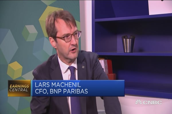 BNP Paribas CFO: Seeing pickup in the economy