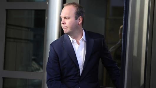 Rick Gates, a former campaign official for U.S. President Donald Trump, departs U.S. District Court after he and Trump's former campaign manager Paul Manafort attended a hearing in the first charges stemming from a special counsel investigation of possible Russian meddling in the 2016 presidential election in Washington, U.S., October 30, 2017.