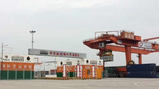 The Xi'an Railway Container Freight Station in the Xi'an International Trade and Logistics Park opened in 2010 and covers 68.3 hectares.